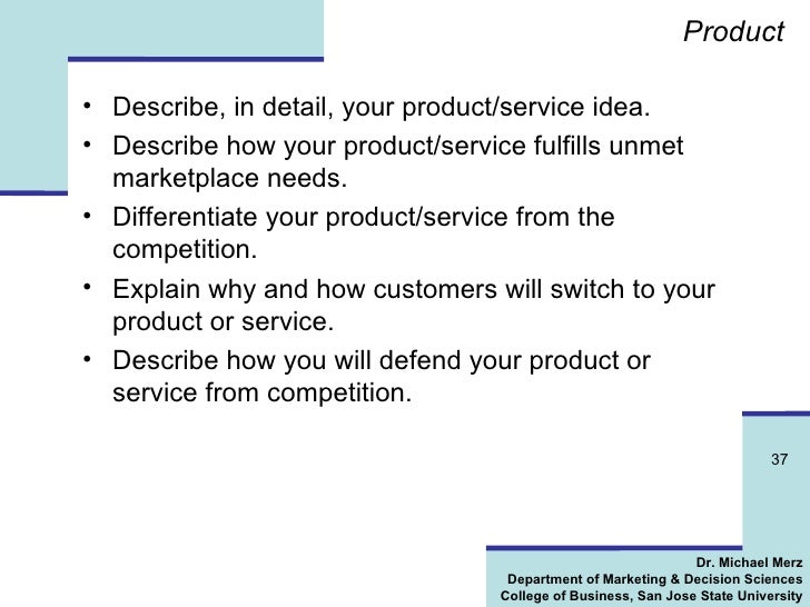 how to write a product marketing plan