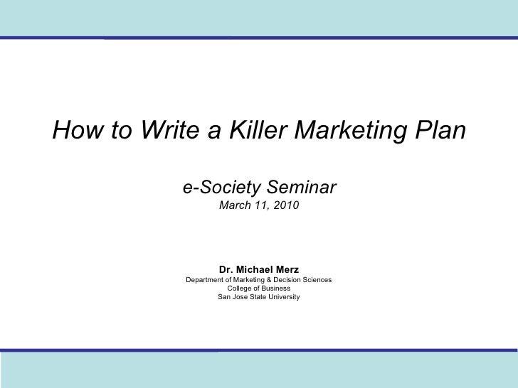 How to Write an Executive Summary Marketing Plan