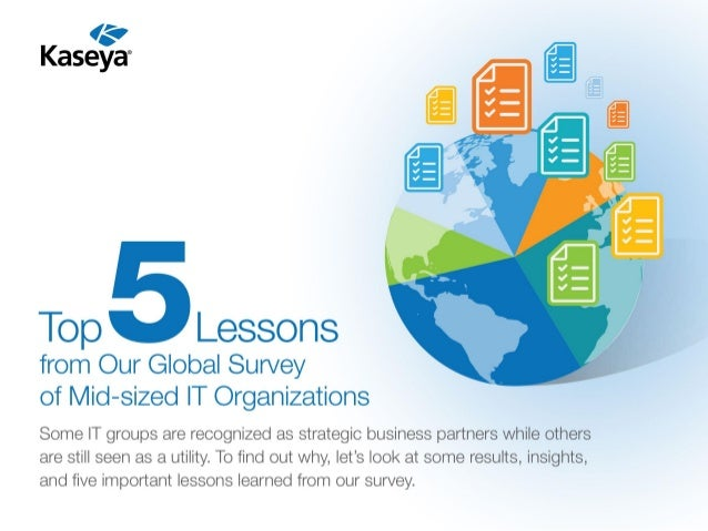 "'iv  Kasey ""  Top Lessons  from Our Global Survey of Mid—sized IT Organizations  Some IT groups are recognized as strategi..."