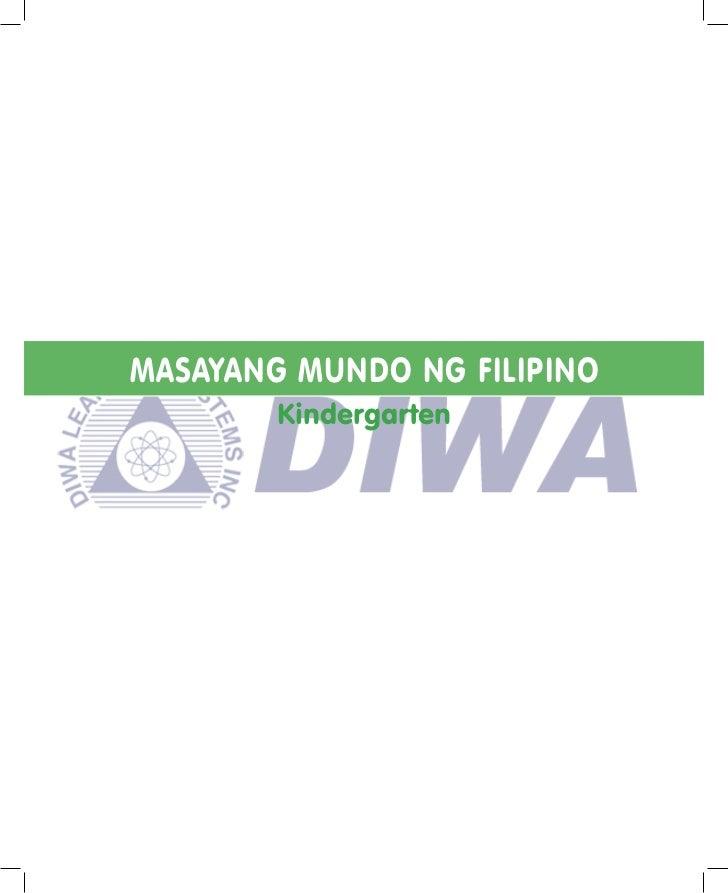 MASAYANG MUNDO NG FILIPINO        Kindergarten