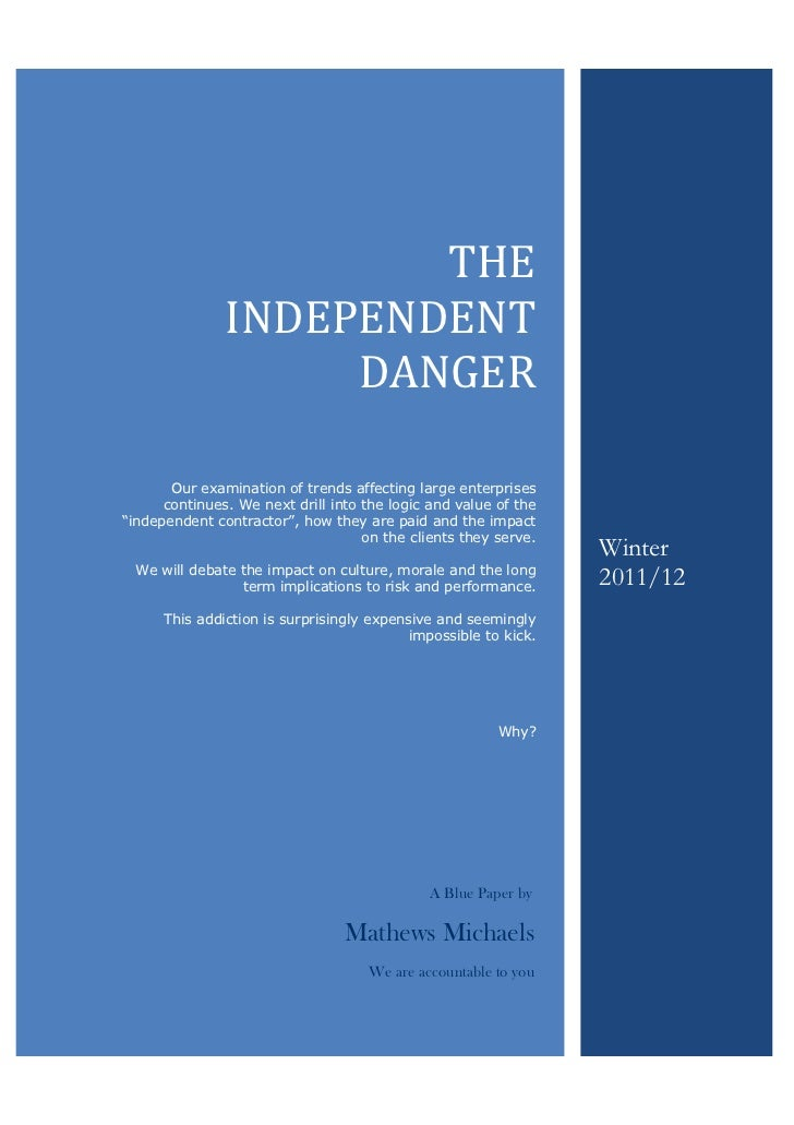 MaMathe                             THE                     INDEPENDENT                          DANGER            Our exa...