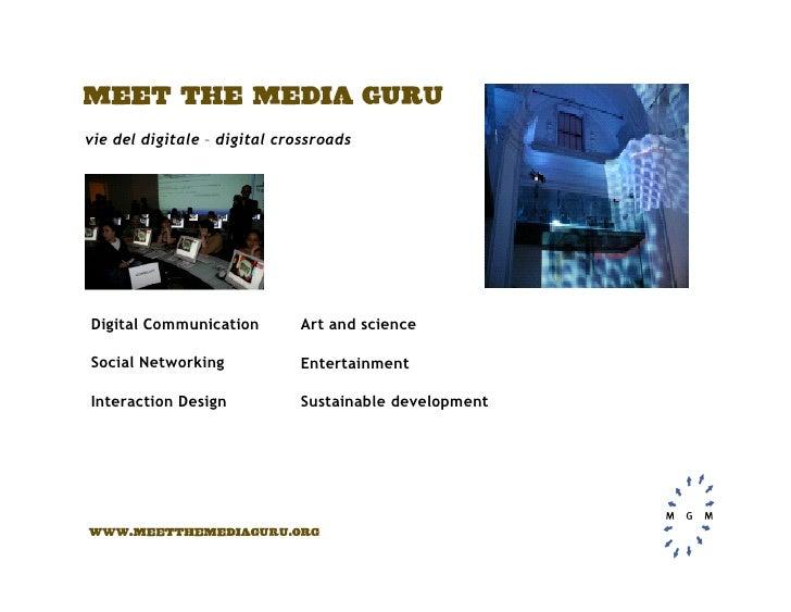 vie del digitale – digital crossroads     Digital Communication        Art and science  Social Networking            Enter...