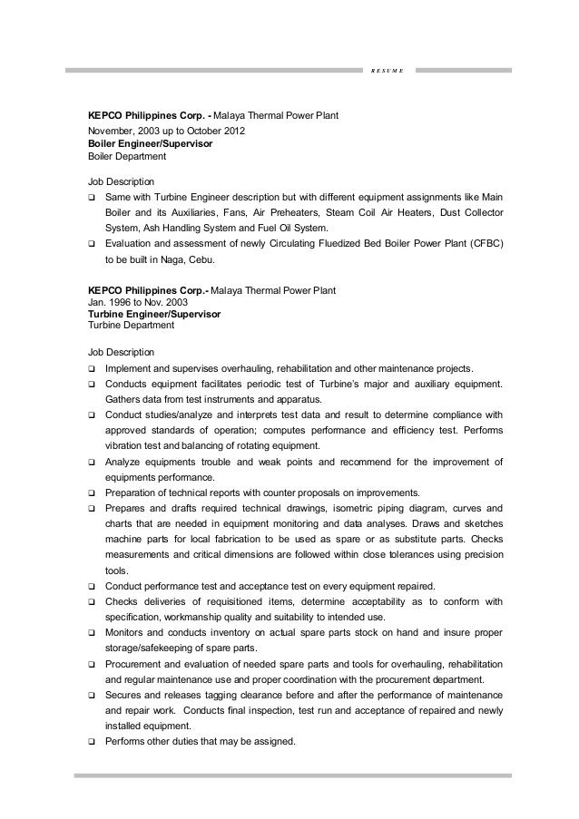 Resume For Electrical Maintenance Engineer  Samples Of Resumes