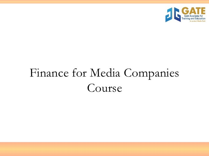 Finance for Media Companies Course