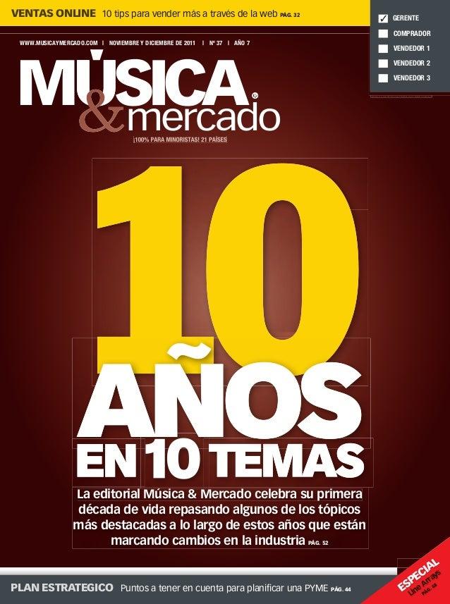 La editorial Música & Mercado celebra su primera década de vida repasando algunos de los tópicos más destacadas a lo largo...