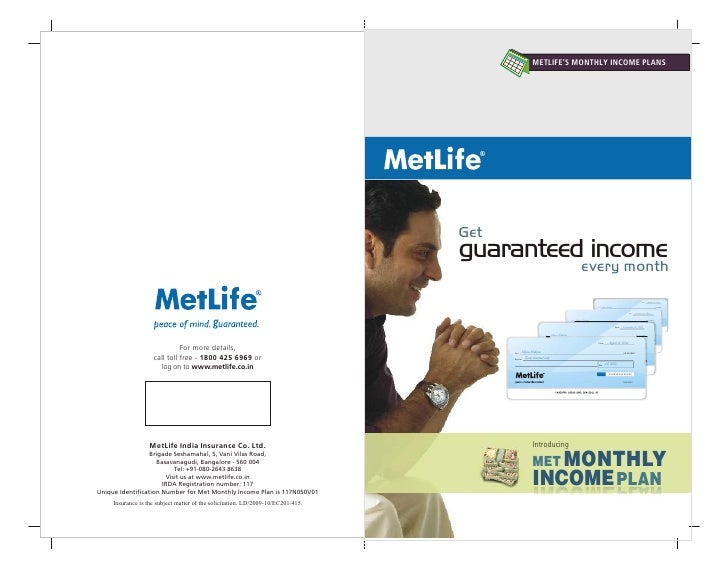 Misselling - Met Monthly Income Plan