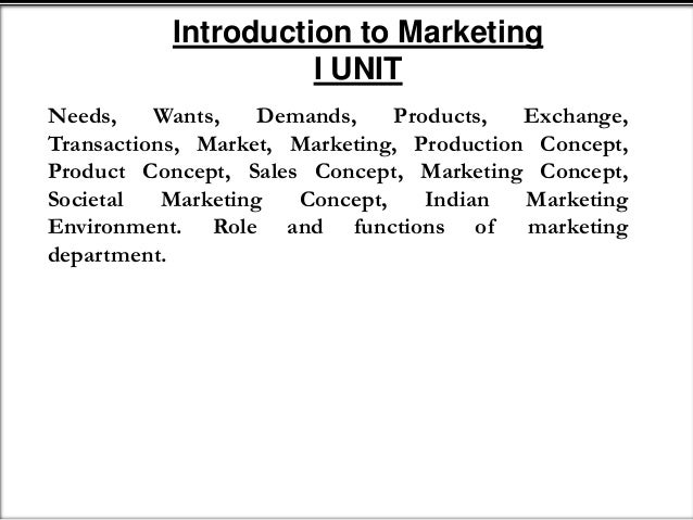 what does the marketing concept state