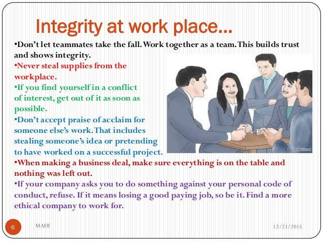 presentation on integrity at work