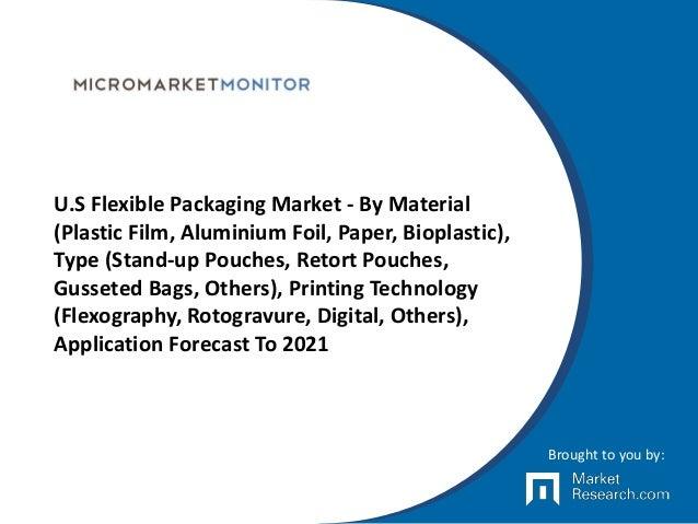 U.S Flexible Packaging Market - By Material (Plastic Film, Aluminium Foil, Paper, Bioplastic), Type (Stand-up Pouches, Ret...