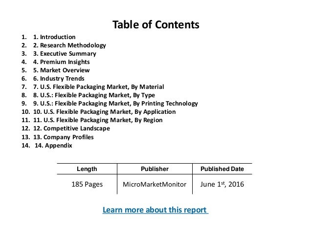 Length Publisher Published Date 185 Pages MicroMarketMonitor June 1st, 2016 Table of Contents 1. 1. Introduction 2. 2. Res...