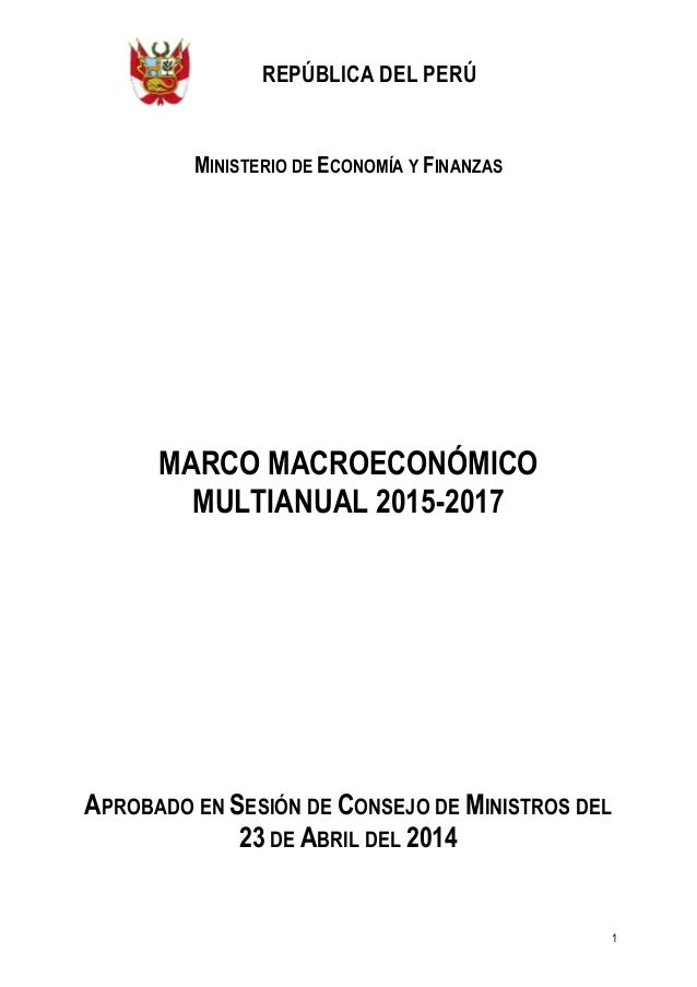 Escenario economico de peru 2015 2017