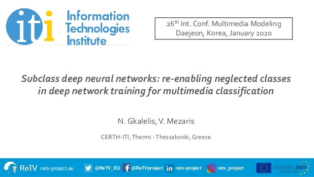 retv-project.eu @ReTV_EU @ReTVproject retv-project retv_project Title of presentation Subtitle Name of presenter Date Subc...
