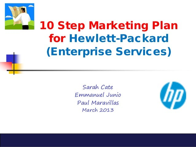 Marketing plan memo hewlett packard