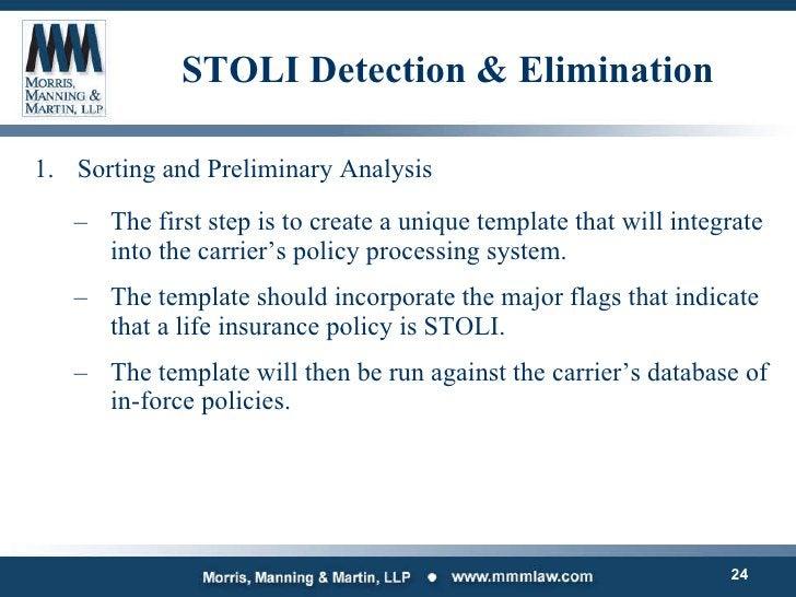STOLI Detection & Elimination <ul><li>Sorting and Preliminary Analysis </li></ul><ul><ul><li>The first step is to create a...