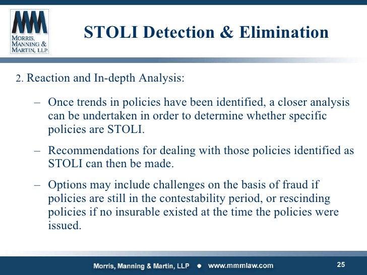 STOLI Detection & Elimination <ul><li>2.  Reaction and In-depth Analysis: </li></ul><ul><ul><li>Once trends in policies ha...
