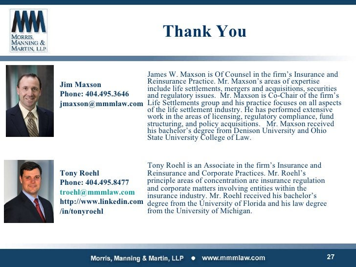<ul><li>James W. Maxson is Of Counsel in the firm's Insurance and Reinsurance Practice. Mr. Maxson's areas of expertise in...