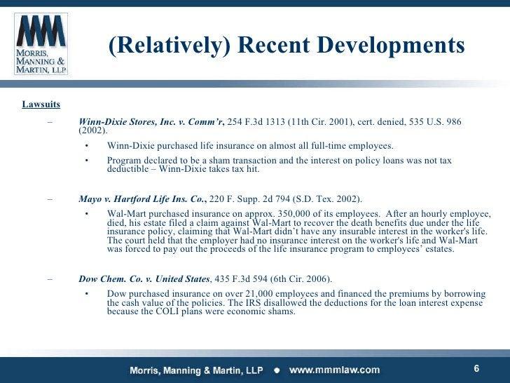 (Relatively) Recent Developments <ul><li>Lawsuits </li></ul><ul><ul><li>Winn-Dixie Stores, Inc. v. Comm'r ,  254 F.3d 1313...