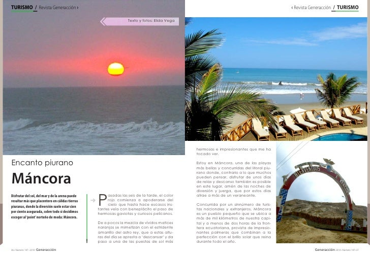 TURISMO / / Revista GeneracciónENTREVISTARevista Generacción › ›                                                          ...
