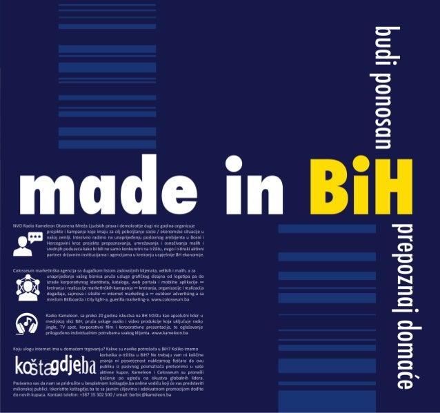"""Budi Ponosan """"Made in BiH"""""""