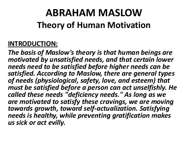 theory abraham maslow Abraham maslow - a theory of human motivation emotional intelligence courses emotional literacy education development, training, classes, lessons, learning, teaching, curriculum, instruction, online books.