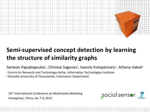 Semi-supervised concept detection by learningthe structure of similarity graphsSymeon Papadopoulos1, Christos Sagonas1, Io...
