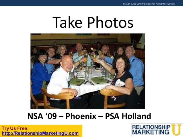 © 2014 Gina Carr International. All rights reserved.  Take Photos  NSA '09 – Phoenix – PSA Holland Try Us Free: http://Rel...