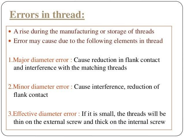 Mmm screw thread mrsr