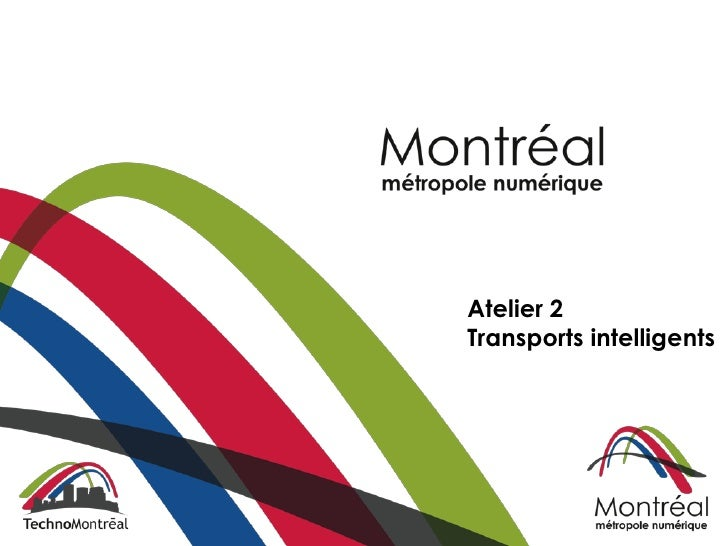 Atelier 2Transports intelligents