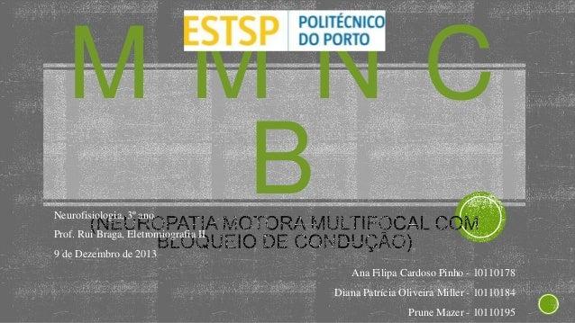 MMNC B  Neurofisiologia, 3º ano  Prof. Rui Braga, Eletromiografia II 9 de Dezembro de 2013 Ana Filipa Cardoso Pinho - 1011...
