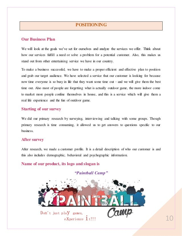 paintball essays Techniques and tactics for paintball essays look at where the bunkers are and where the center of the field is make sure that you know where all of the main bunkers.