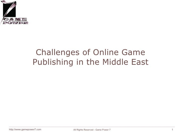 Challenges of Online Game Publishing in the Middle East