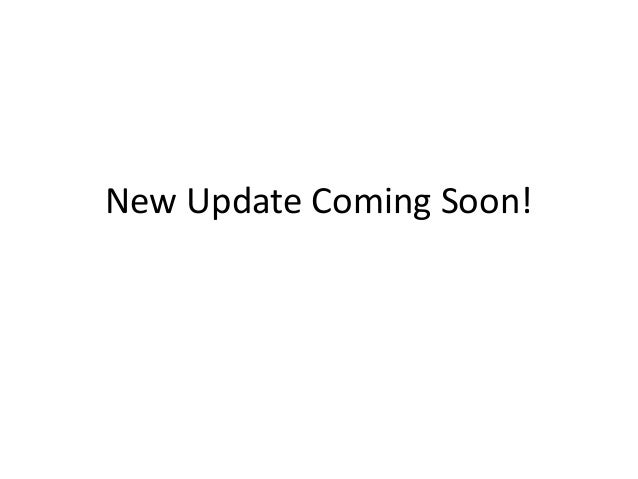 New Update Coming Soon!