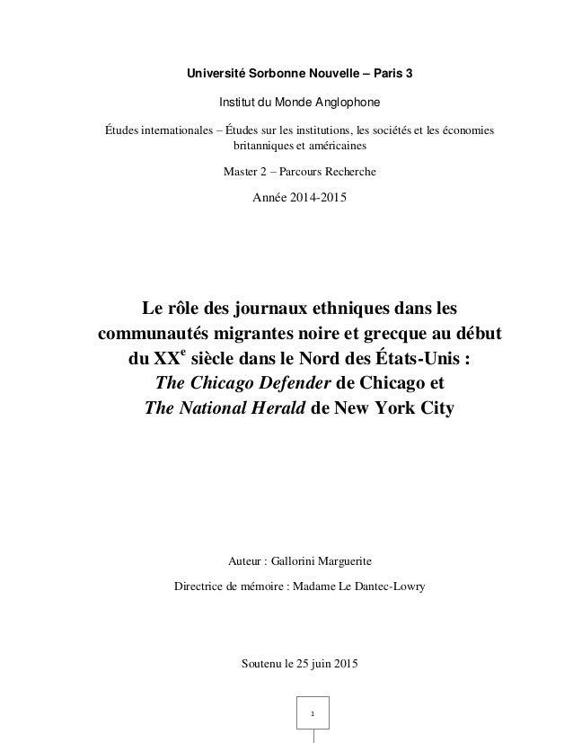 1 Université Sorbonne Nouvelle – Paris 3 Institut du Monde Anglophone Études internationales – Études sur les institutions...
