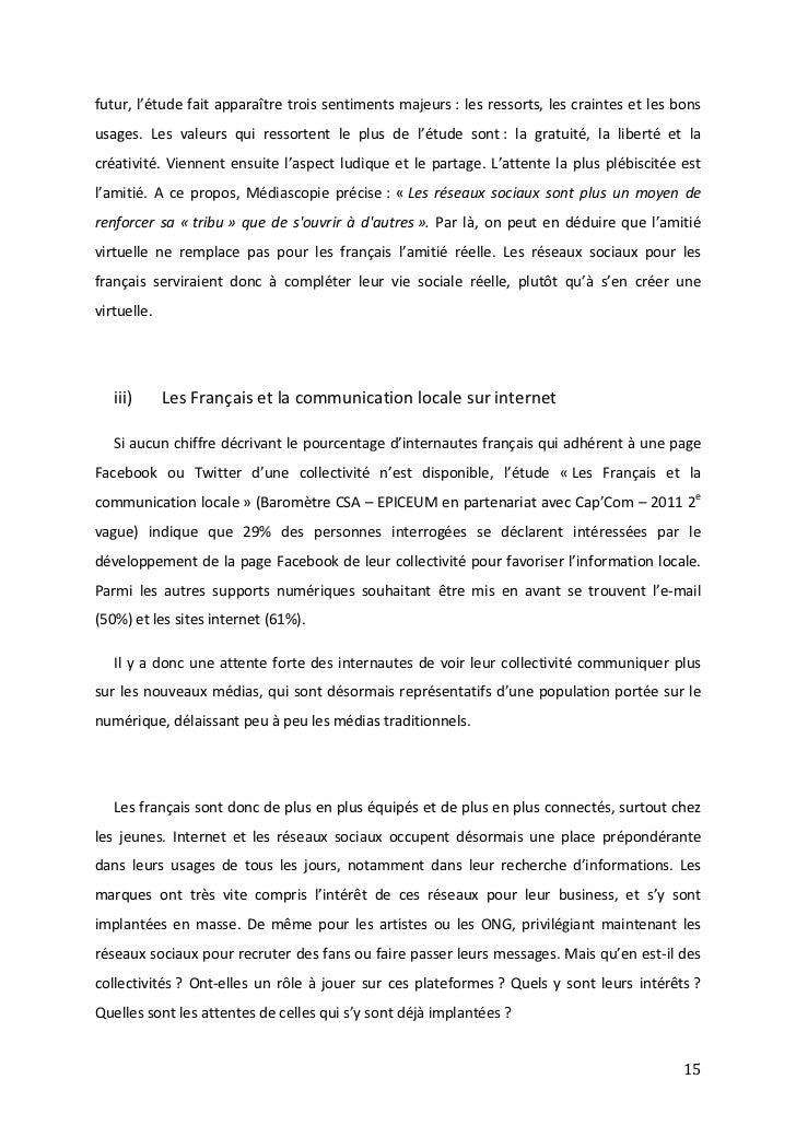 44bed70bceb Mémoire - Collectivités et Réseaux Sociaux - Alexandre Catillon