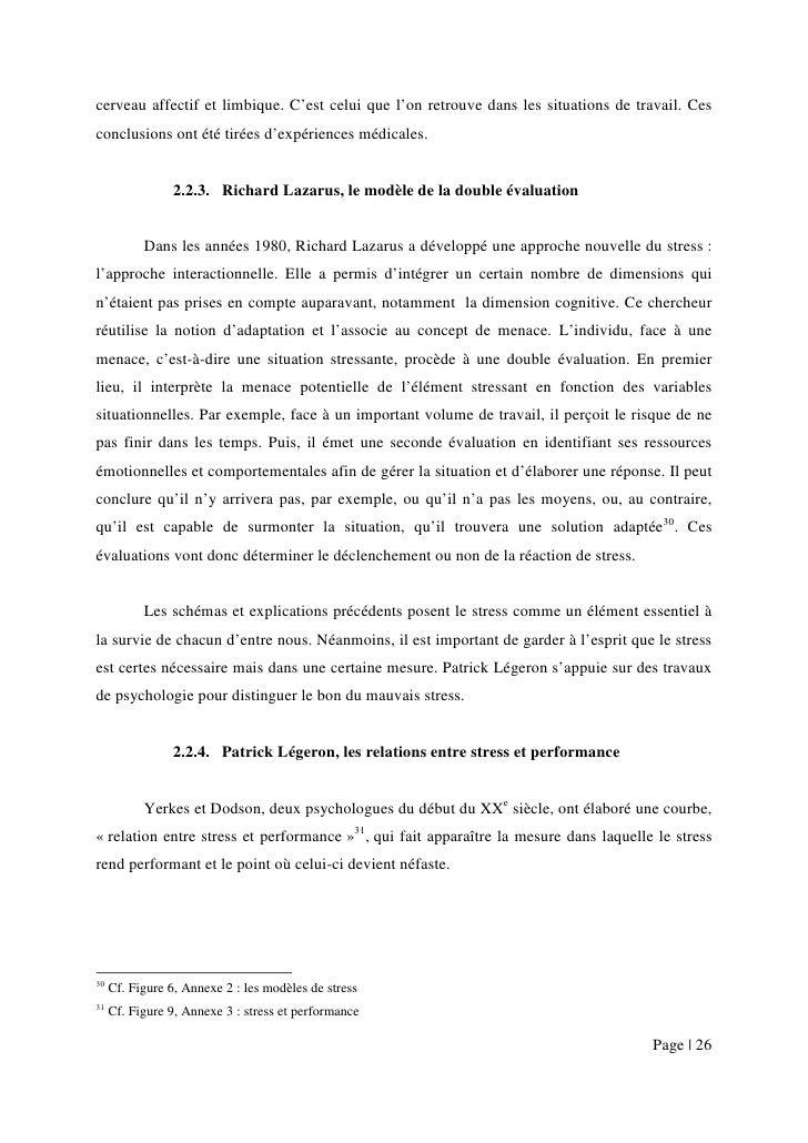le stress au travail pdf