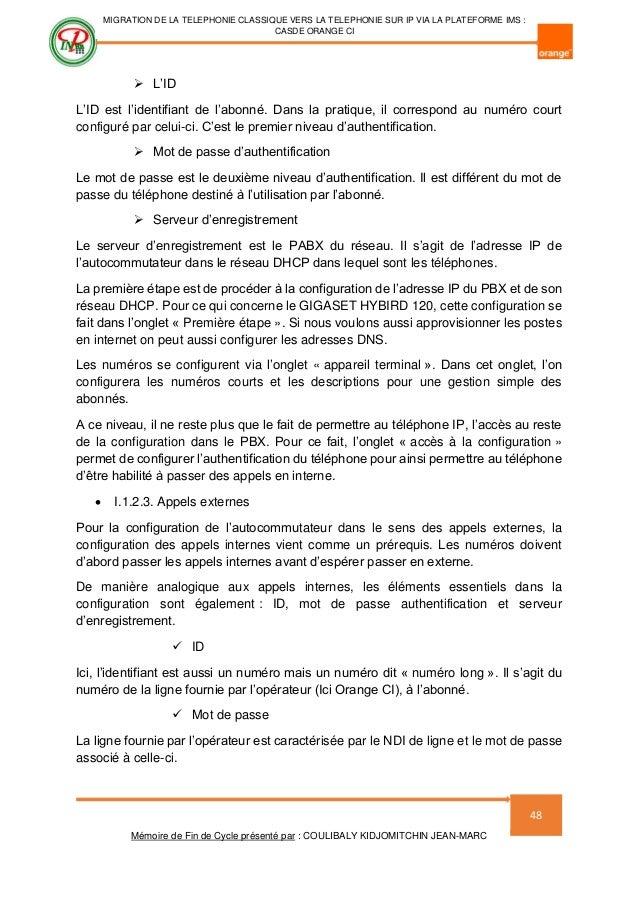 Mémoire de fin d étude  Migration de la téléphonie classique vers la … e56d100dbea7