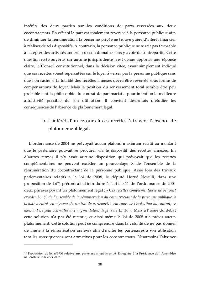 Memoire Master 1 La Remuneration Des Partenaires Prives Dans Les Con