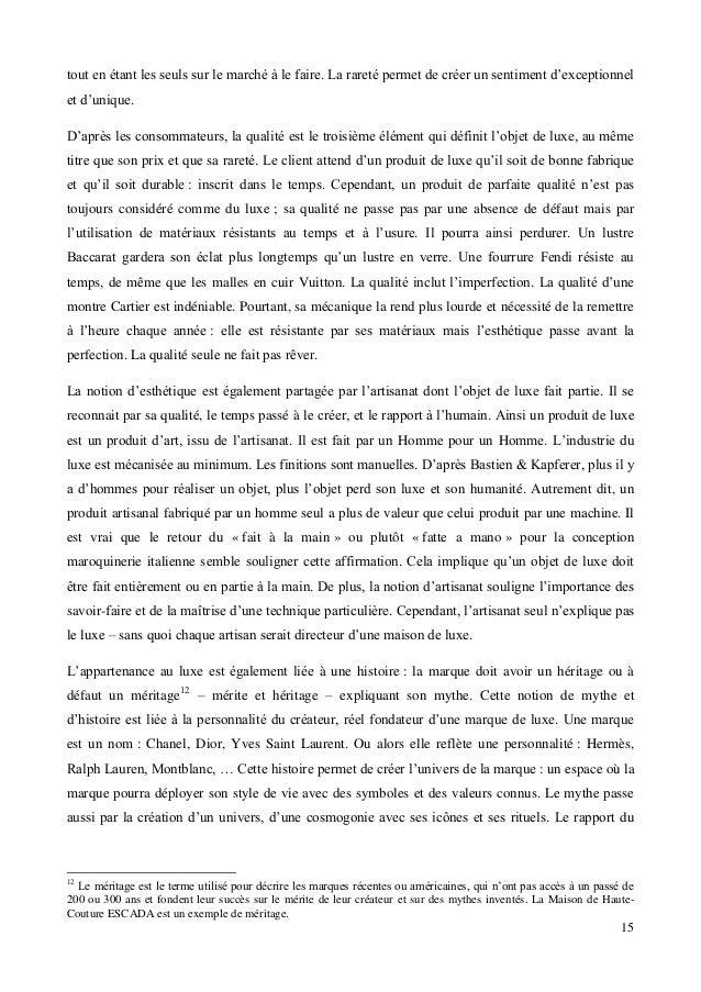 Memoire Master 2 Face A La Democratisation Du Luxe Comment Conserver