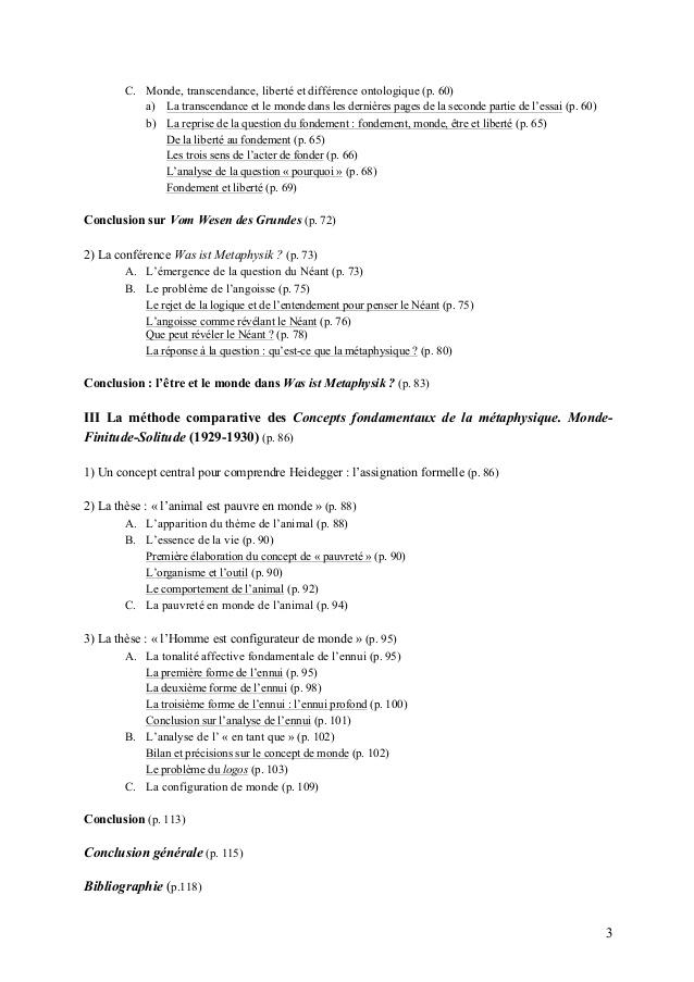 Bevorzugt Mémoire de master de philosophie : Heidegger et le problème du monde … JO01