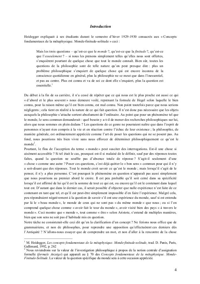 Dissertation philosophie exemple intro
