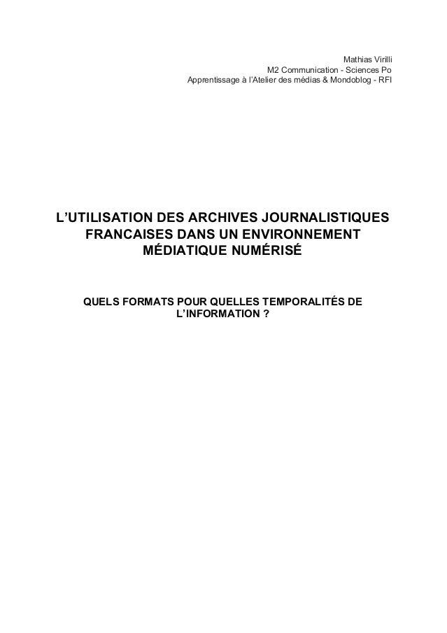 MathiasVirilli M2CommunicationSciencesPo Apprentissageàl'Atelierdesmédias&MondoblogRFI         L...