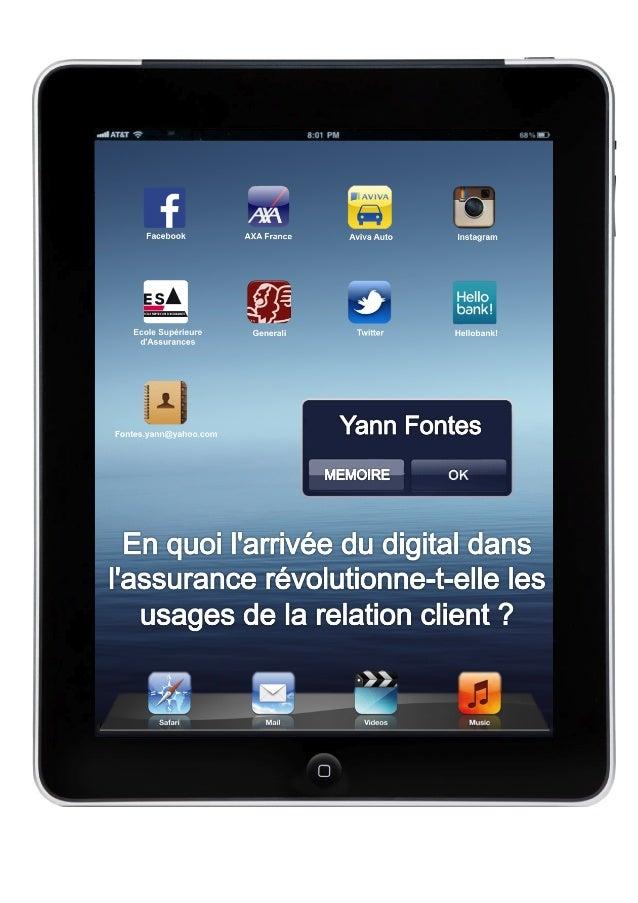 Yann  FONTES  –  Manager  de  l'Assurance  -‐  Ecole  Supérieure  d'Assurances  –  2012/2013   En...