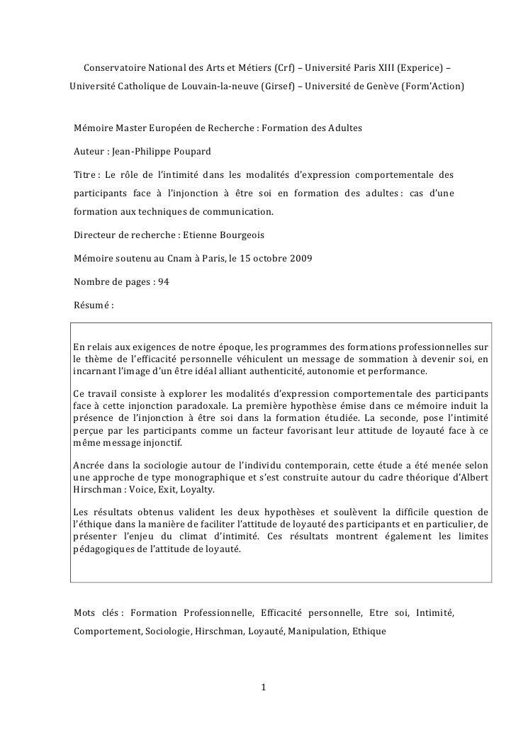 Conservatoire  National  des  Arts  et  Métiers  (Crf)  –  Université  Paris  XIII  (Experice)  –...