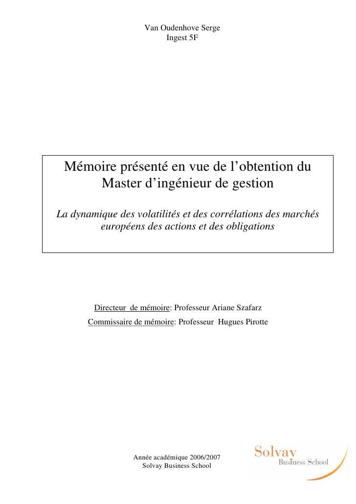 Van Oudenhove Serge                           Ingest 5F Mémoire présenté en vue de l'obtention du     Master d'ingénieur d...
