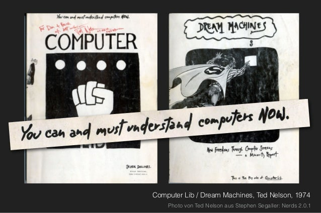 """Ready or not, computers are coming to the people. That's good news, maybe the best since psychedelics. –Stewart Brand """"Lif..."""