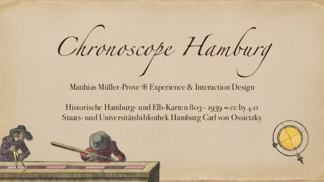 Chronoscope Hamburg Matthias Müller-Prove ❊ Experience & Interaction Design Historische Hamburg- und Elb-Karten 803 - 1939...