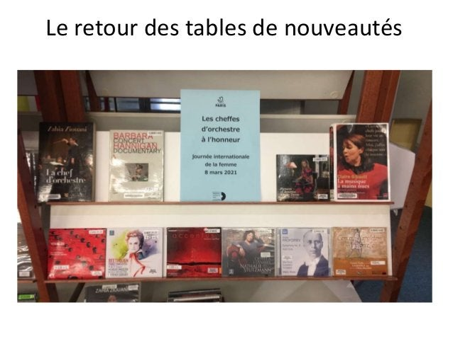 Le retour des tables de nouveautés
