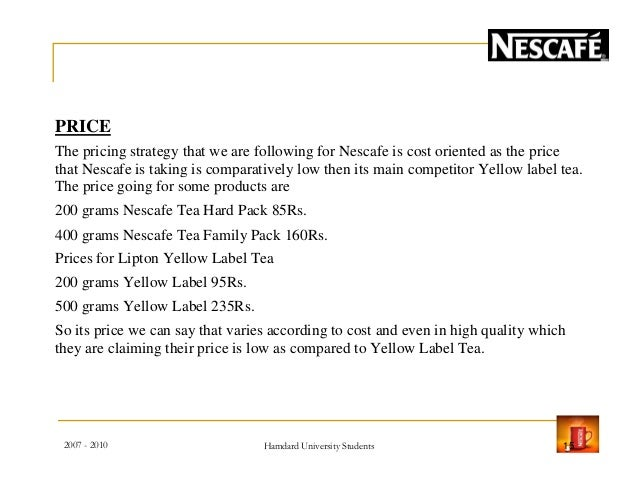 nescafe introductory stage of product Introduction to the product life cycle the following are some of the marketing mix implications of the introduction stage: product - one or few products.