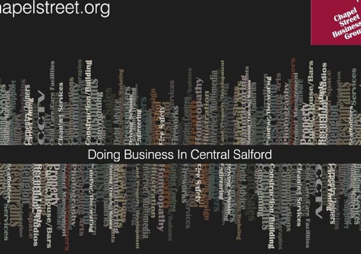 RealisingtheVision…   WhereCentralSalfordisfragmenteditwillbereconnected.   Throughstrategictransportandin...