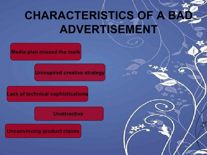the characteristics of a good tv commercial With 38 ads on average airing per minute across national tv, breaking through the clutter is essential according to a recent analysis from nielsen, there are five common characteristics of tv ads that resonate with consumers.